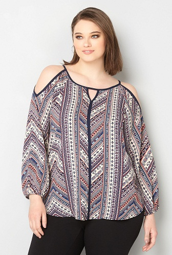 Plus Size Polyester Top