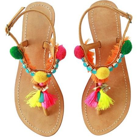 PomPom Beach Sandal