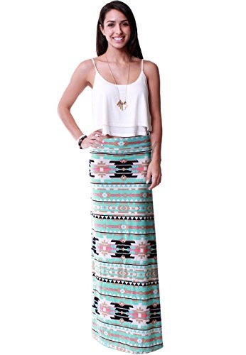Printed High Waist Skirt