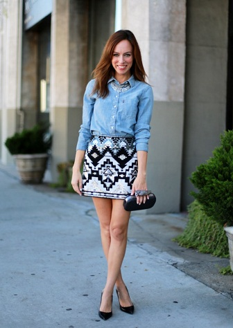 Printed Short Skirt