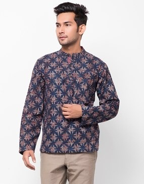 Printed Super Short Tunic for Men