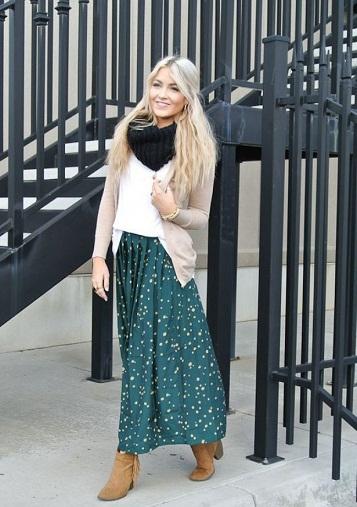 Printed Winter Maxi Skirts