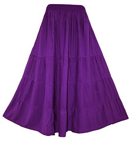 Purple Simple style Gypsy Skirt