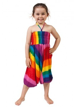 Rainbow Single Strap Kid Jumpsuit