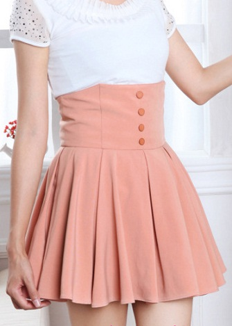 Retro Chiffon Mini Skirt