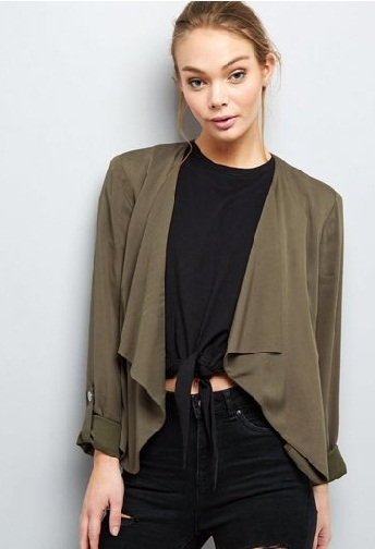 Rolled Sleeve Blazer Jacket