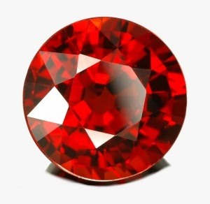 Rounded style January birthstone