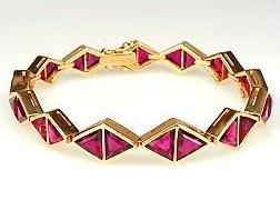 Rubellite Tourmaline Gold Bracelet
