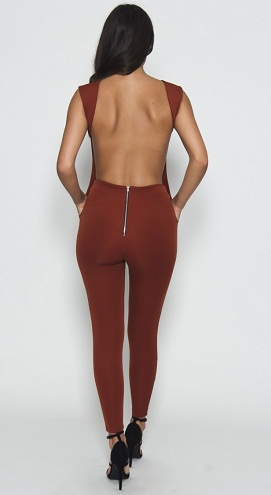 Scuba Backless Jumpsuit