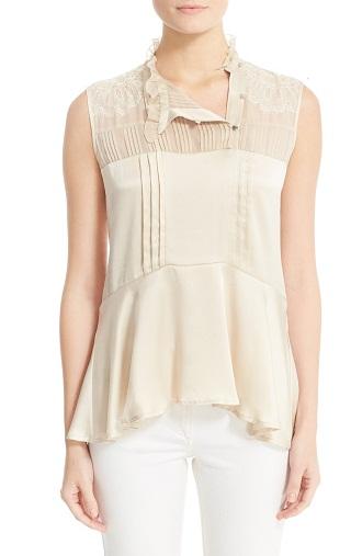 Short Chiffon Tunic blouse for Women
