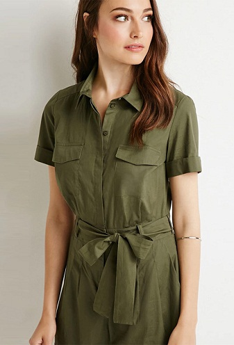 Short Green Jumpsuit