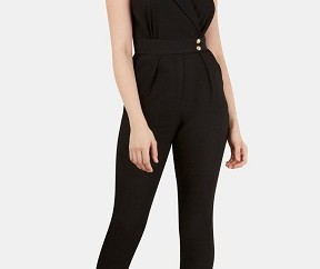 Short Sleeve V-neck Jumpsuit