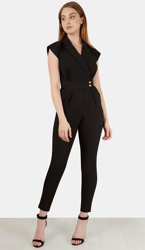 Short Sleeve V-neck Jumpsuit