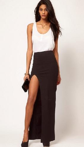 Side Slit Long Tight Skirts