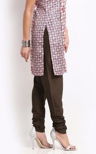 Silk Blend Churidar Pants