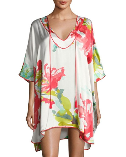 Silk Kaftan Short Tunic for Women