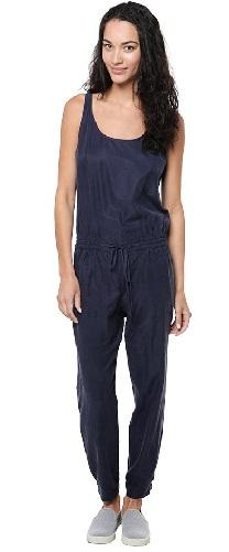 Sleeveless Blue Jumpsuit Women's