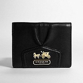 Small Black Leather Coach Wallet