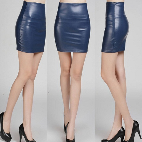Smart Leather Tight Skirts