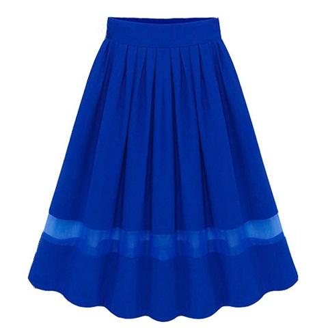 Smart Silk Pleated Skirt