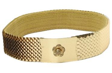 Snake Skin Gold Belt for Men