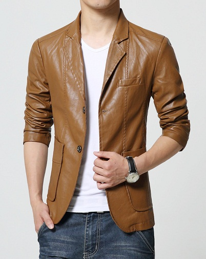 Soft Leather Lhakhi Coat Blazer
