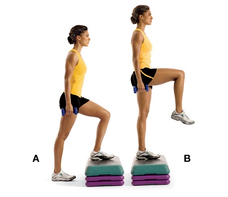Step up Workout to Firm Cellulite on Thighs