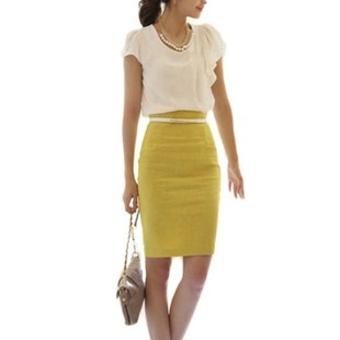 Straight Pencil Skirts with Belt