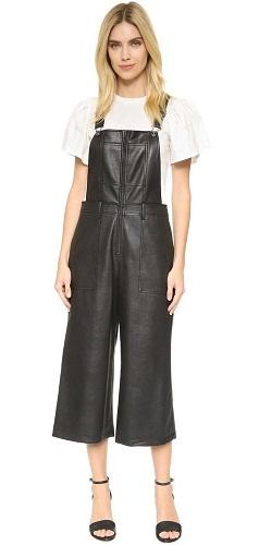 Street Fashion Leather Jumpsuit
