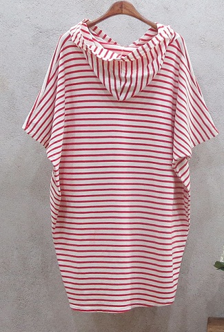 Striped Cotton Maternity Tunic