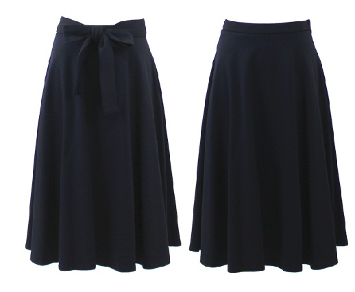 Stylish Long Straight Black Skirts