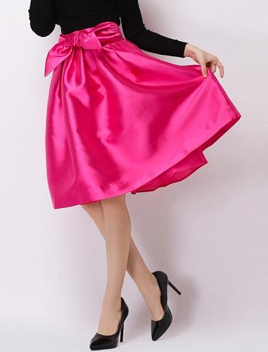 Sweet midi bubble skirt