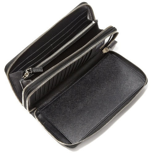 Textured Leather Prada Wallet