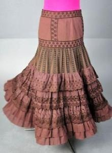 Tiered Broomstick Skirt