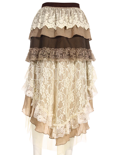 Tiered Layered Lace Skirt