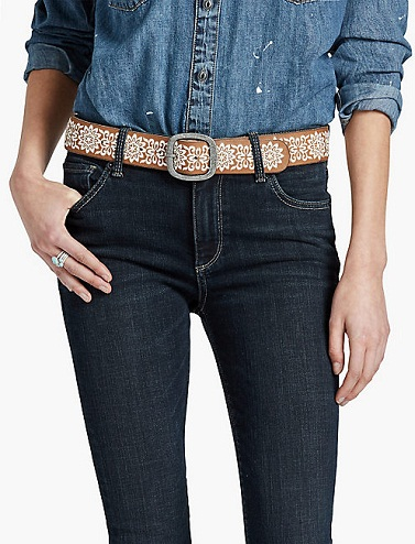 Traditional Print Belt for Jeans