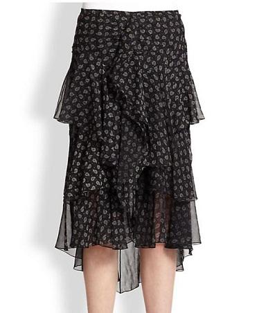 Traditional Printed Silk Skirt