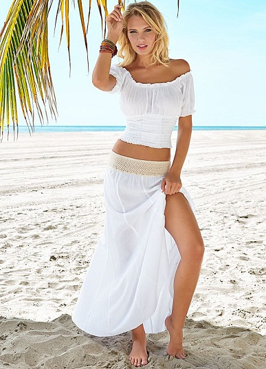 Transparent beach skirt