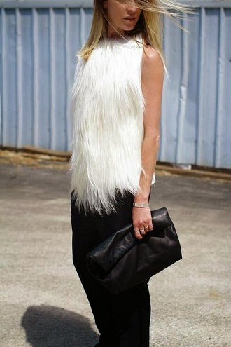 Trendy Fur Top