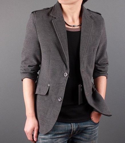 Two Buttoned Designer Blazer Jacket
