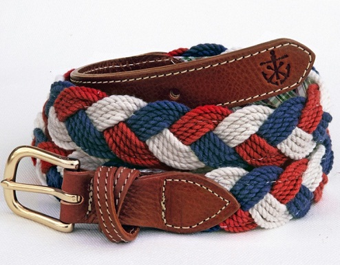 Two Tones Braided Woven Belt