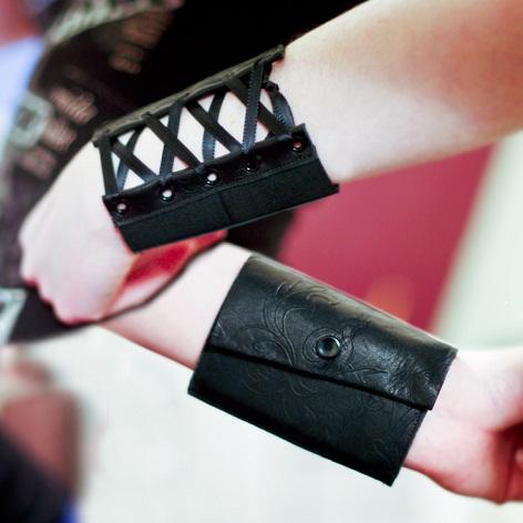 Unisex Fabric Cuff Wallet