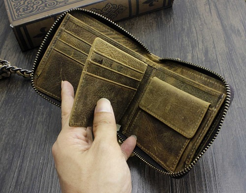 Vintage Biker Wallet for Men