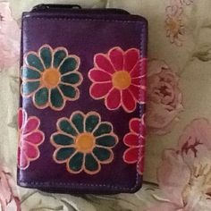 Vintage Floral Wallet for Women