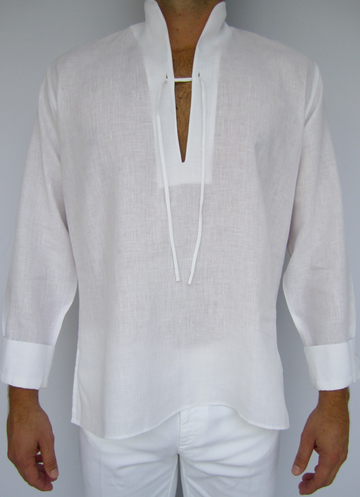 White Linen Tunic in Caftan