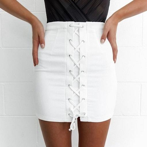 White Pencil Summer Skirts