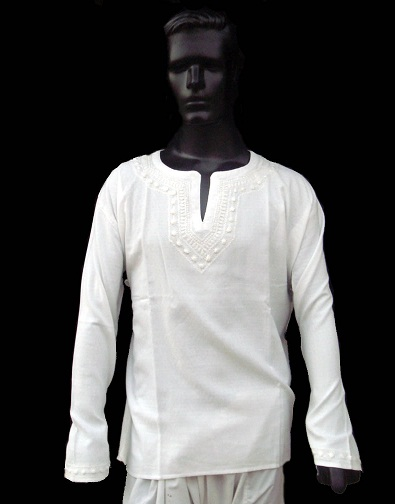 White Short Tunic for Men