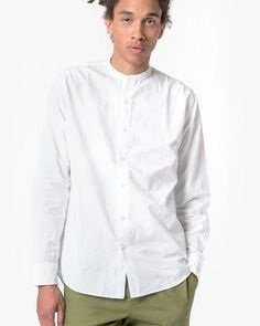 White Summer Tunic for Men