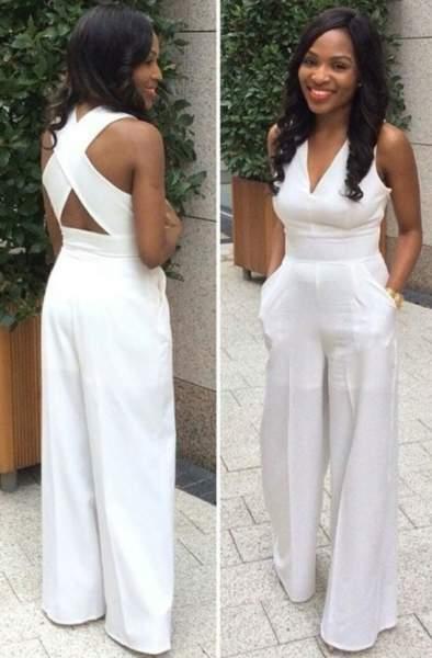 White Twist Back Culotte Jumpsuit-9