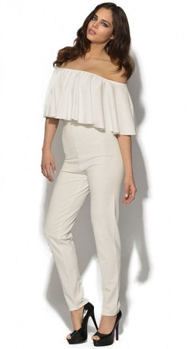 Wide Ruffle Jumpsuit